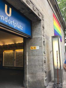 Nollendorfplatz in Berlin | LGBT Rainbow flag