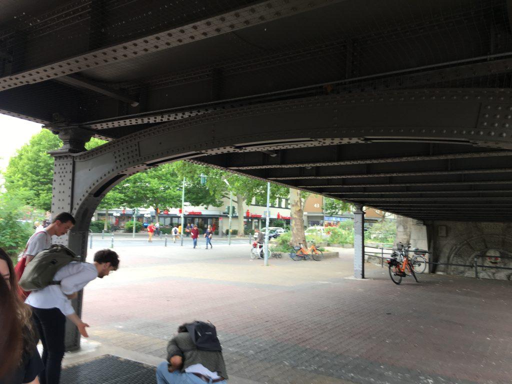 Nollendorfplatz in Berlin | Under the S-Bahn bridge